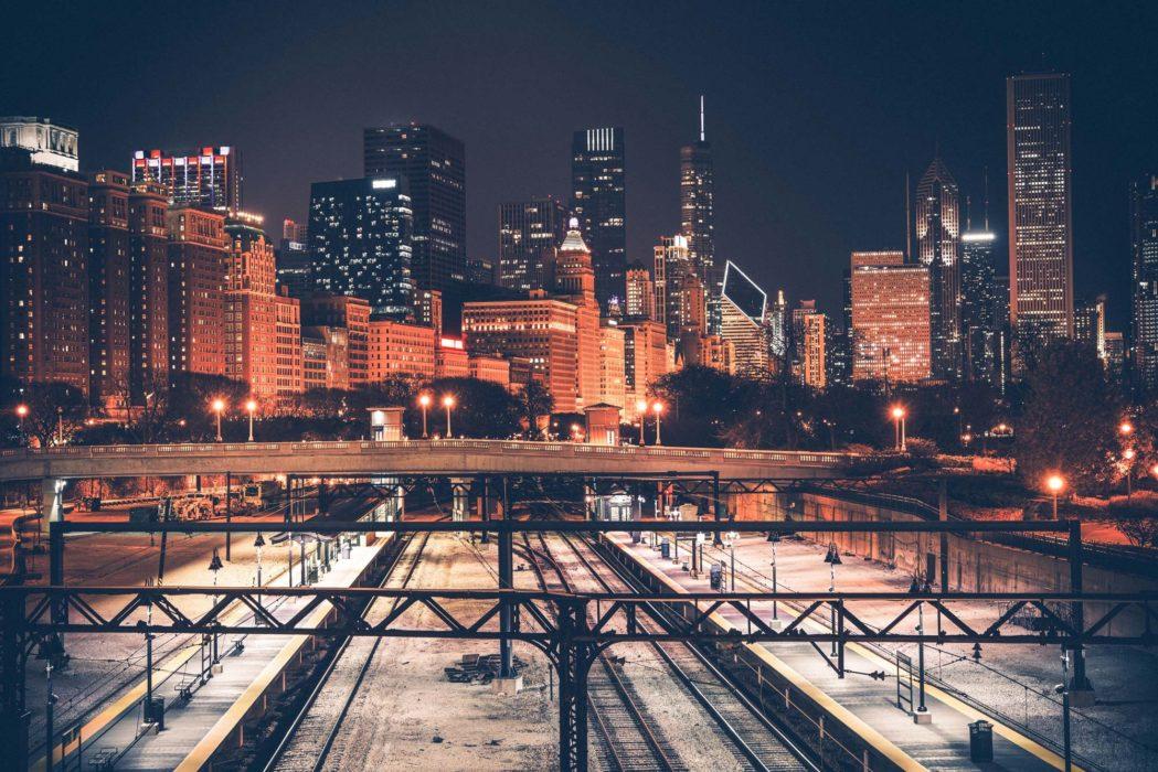 Chicago skyline.