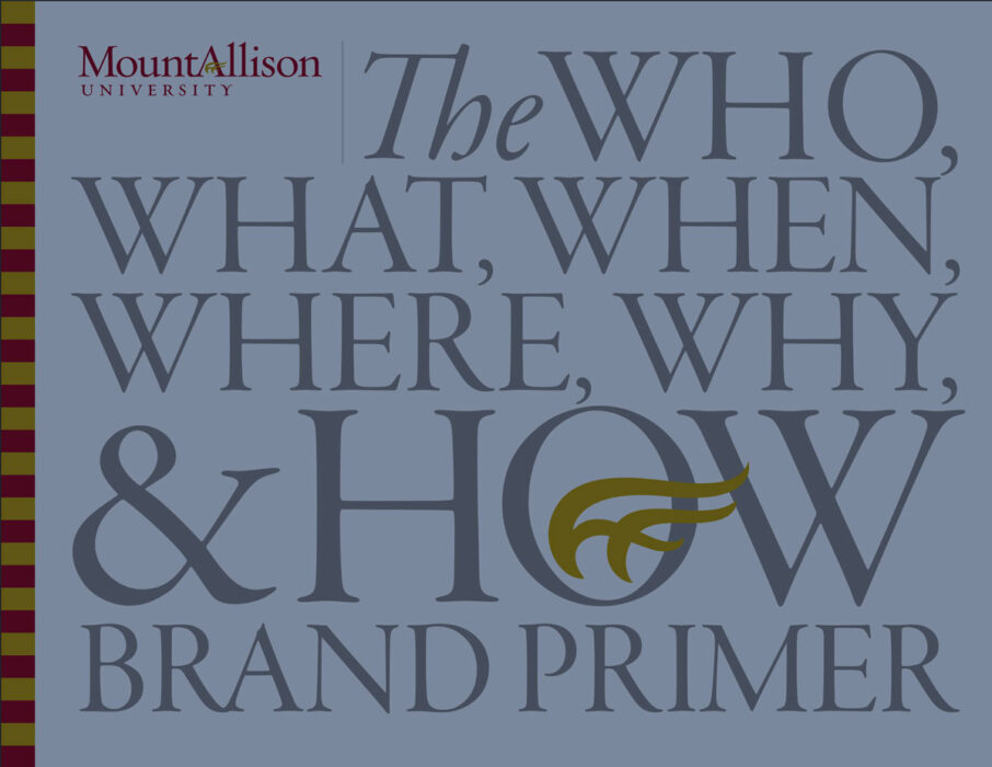 the who , what, when, where, why, and HOW brand primer, cover.