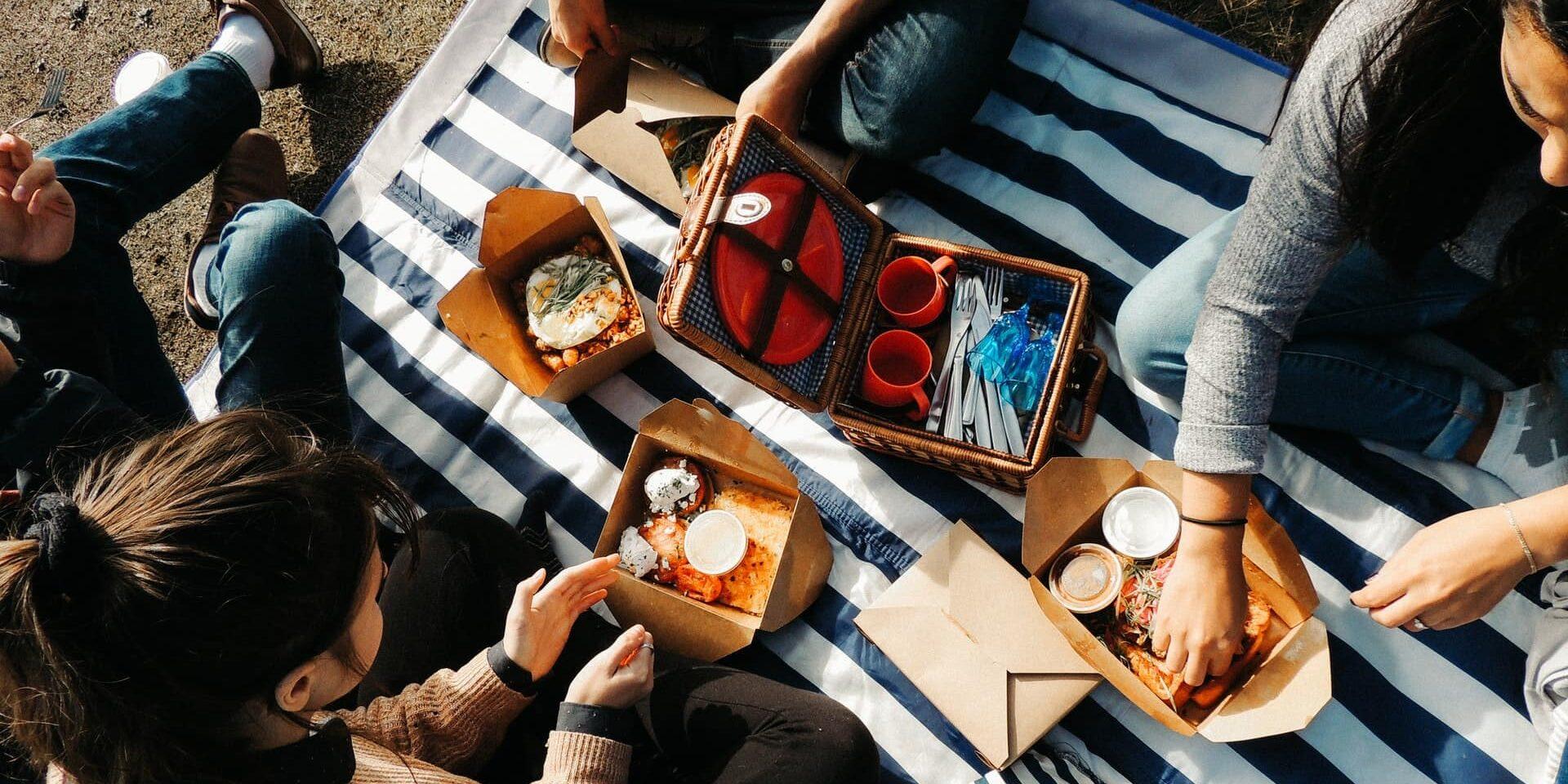 Takeout picnic at Saxe Point by Samantha Fernandes via unsplash.